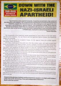 Uno dei tanti documenti anti-israeliani circolati alla Conferenza di Durban del 2001